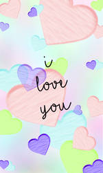 Valentines Phone Background with words