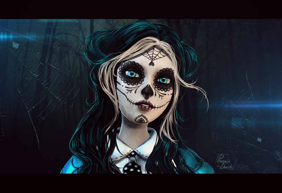 Day of the Dead by Phoenix-zhuzh