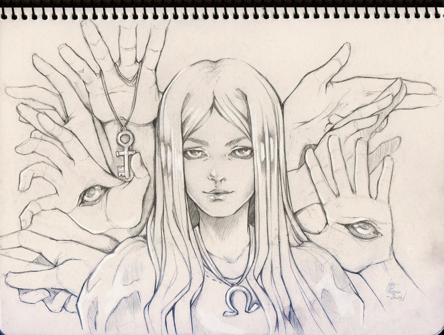 Open your eyes / Sketch by Phoenix-zhuzh