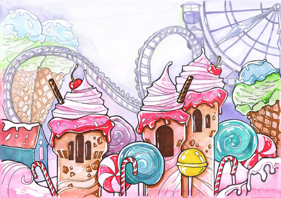 Caramel Amusement Park by Phoenix-zhuzh