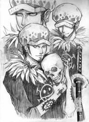 Trafalgar Law Sketch by Phoenix-zhuzh