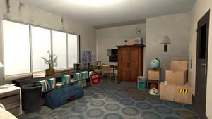 Bedroom SFM Render by BenGrunder