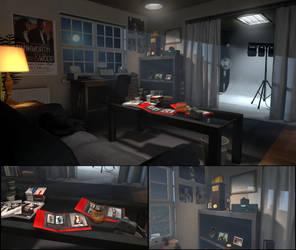 Jefferson's Apartment Studio by BenGrunder
