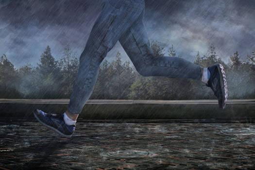 Running from a Rainstorm