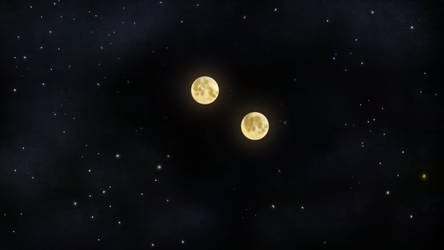 Double Moon in Space