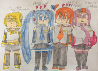 the Vocaloid Gang by NestieBot