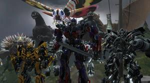 Godzilla and Transformers Heroic Protectors