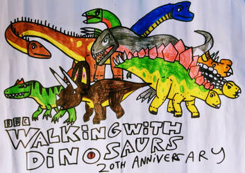 Walking With Dinosaurs 20th Anniversary by NestieBot