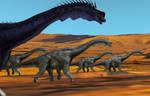 Dinovember Day 16-17: Giraffatitan Migration