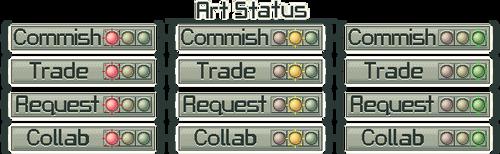 Stoplights Status Buttons