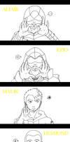 Assassin's Love -lineart- by StupidAngel
