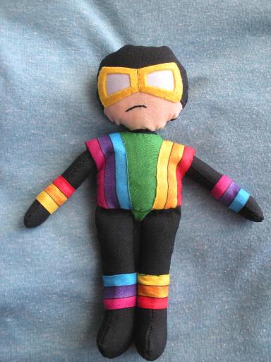 Rainbow Raider plushie by furrychaos
