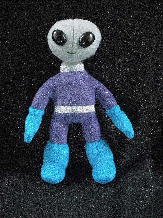 Grey Alien Plush by furrychaos