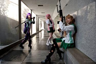 Highschool of the Dead Girls by VampBeauty