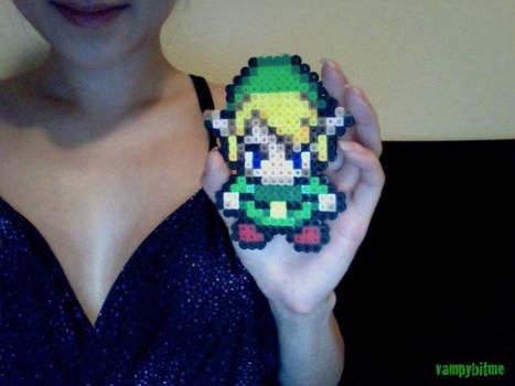 Zelda Link 8 Bit Bead Art