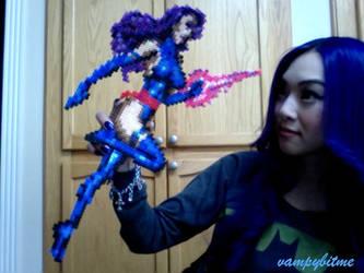 Psylocke XMEN Pixel Bead Art by VampBeauty