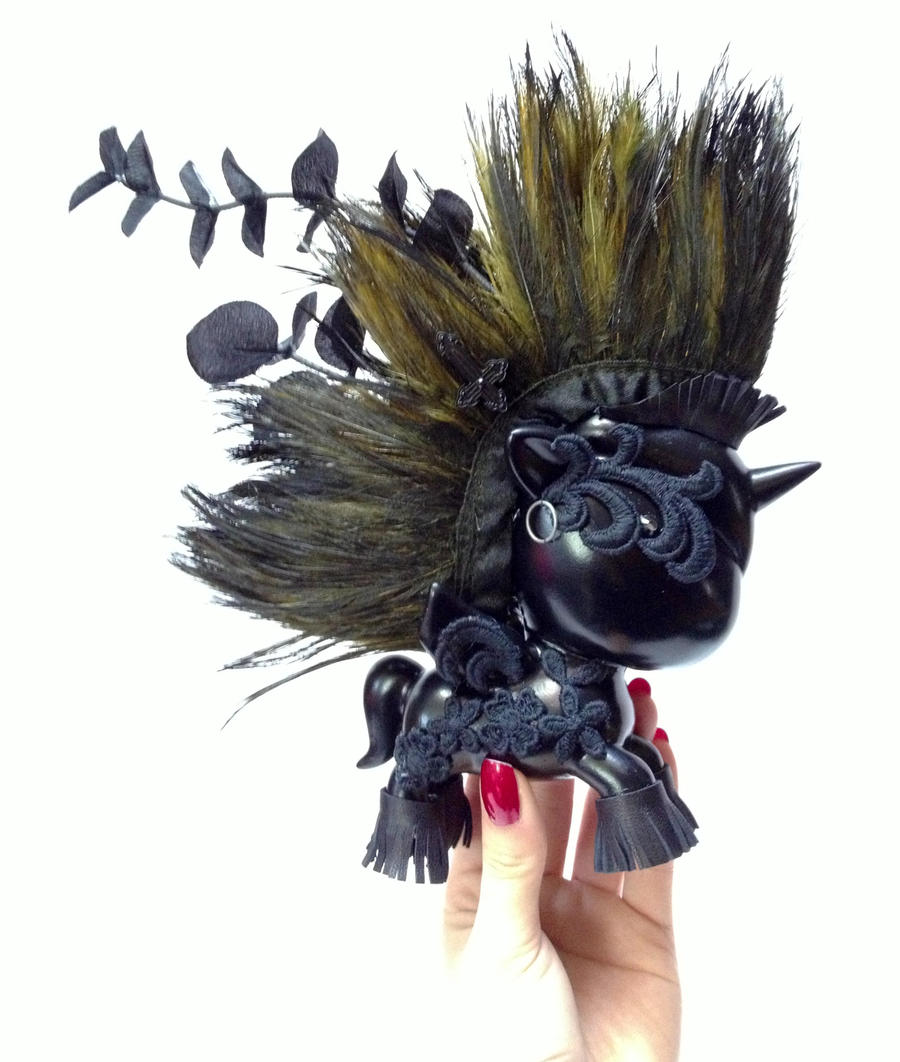 TokiDoki Unicorno Black Metal Warrior Custom by VampBeauty