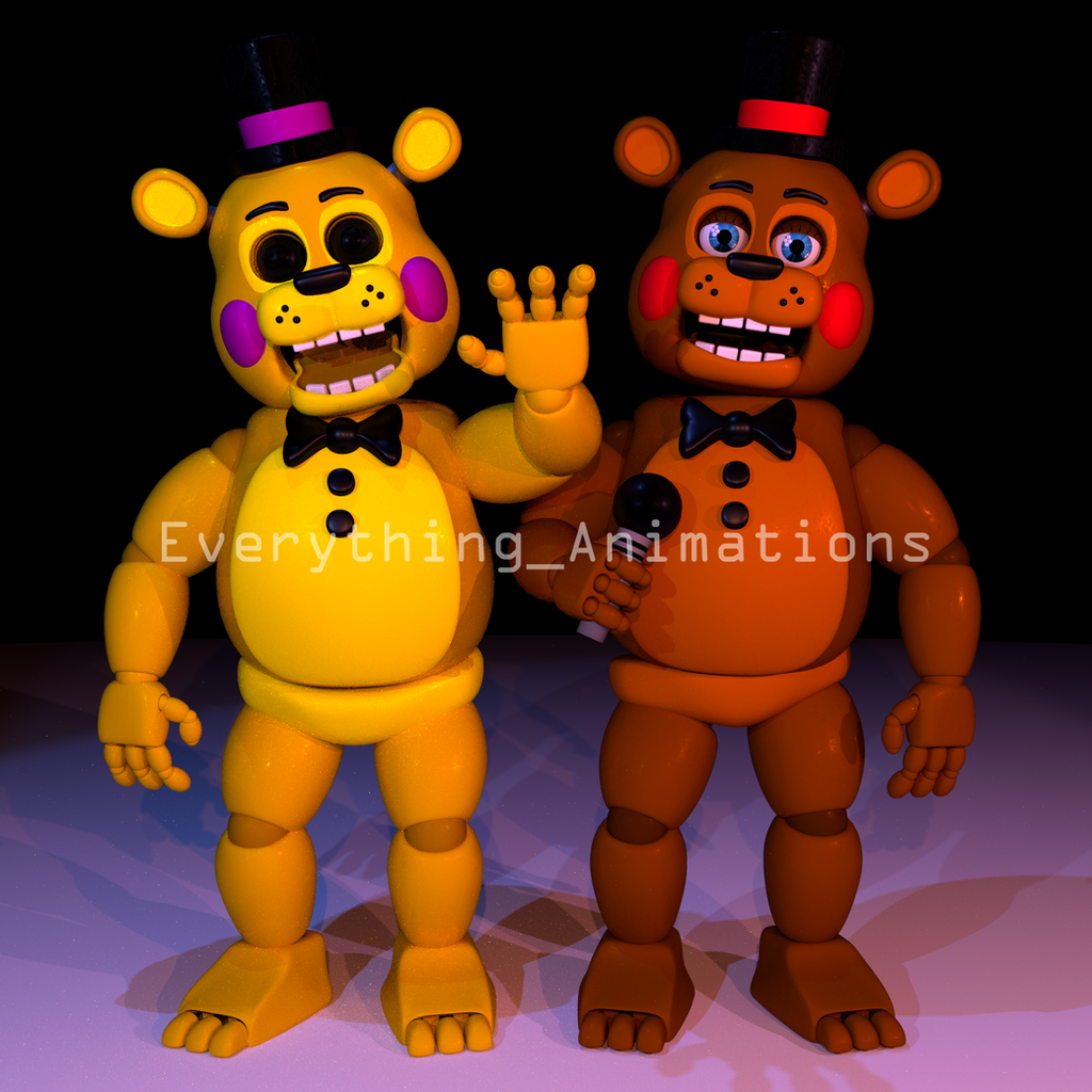 Toy Golden Freddy and Toy Freddy by EverythingAnimations ...