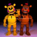 Toy Golden Freddy and Toy Freddy