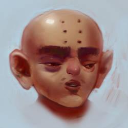 Kuririn with nose by anjosdg