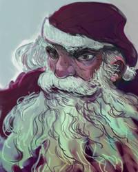 Santa's Portrait by anjosdg