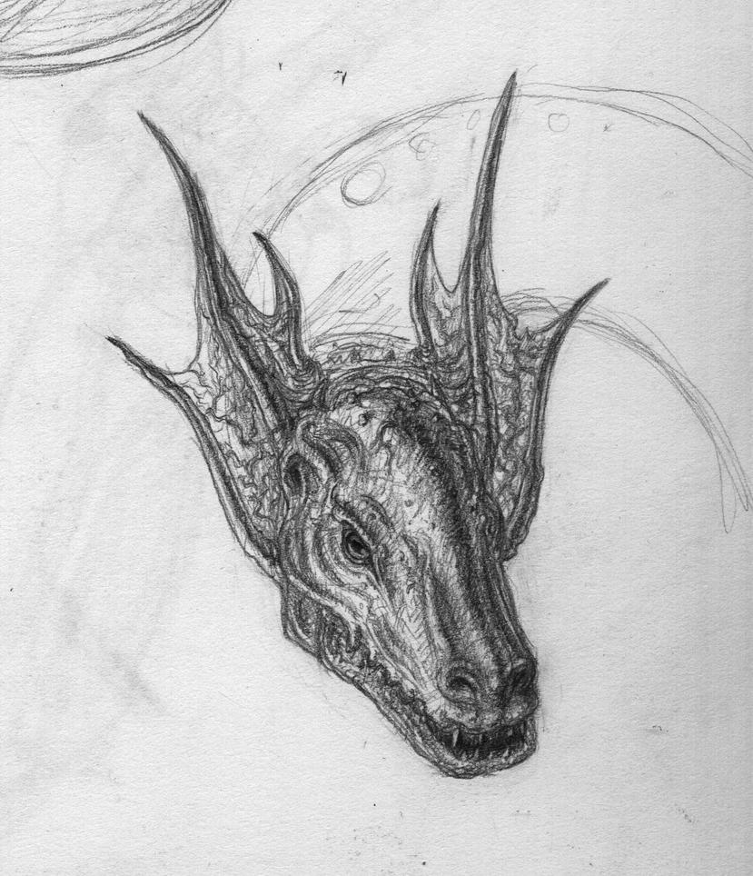 Dragon head sketch by Akharnon on DeviantArt