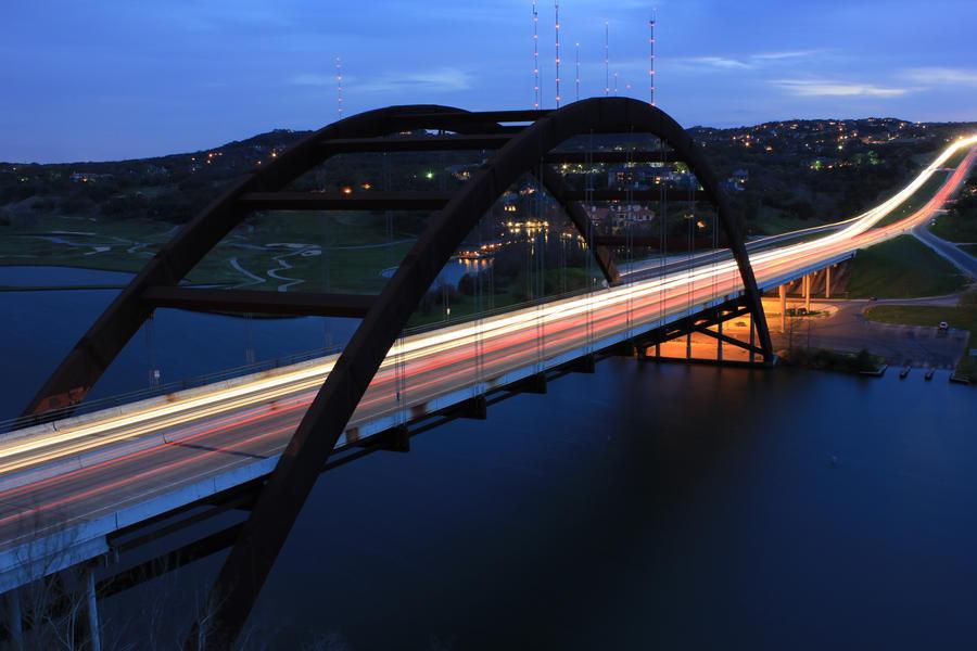 Pennybacker Bridge at Sunset by atomicowboy