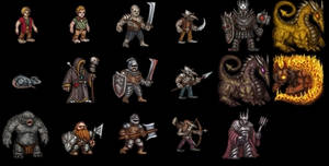 Monsters for the game by Tiodor