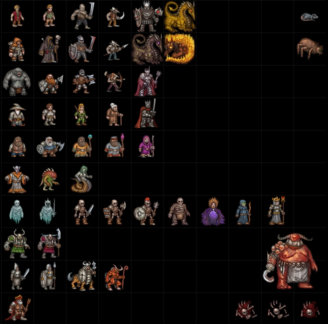 Monsters sprites by Tiodor