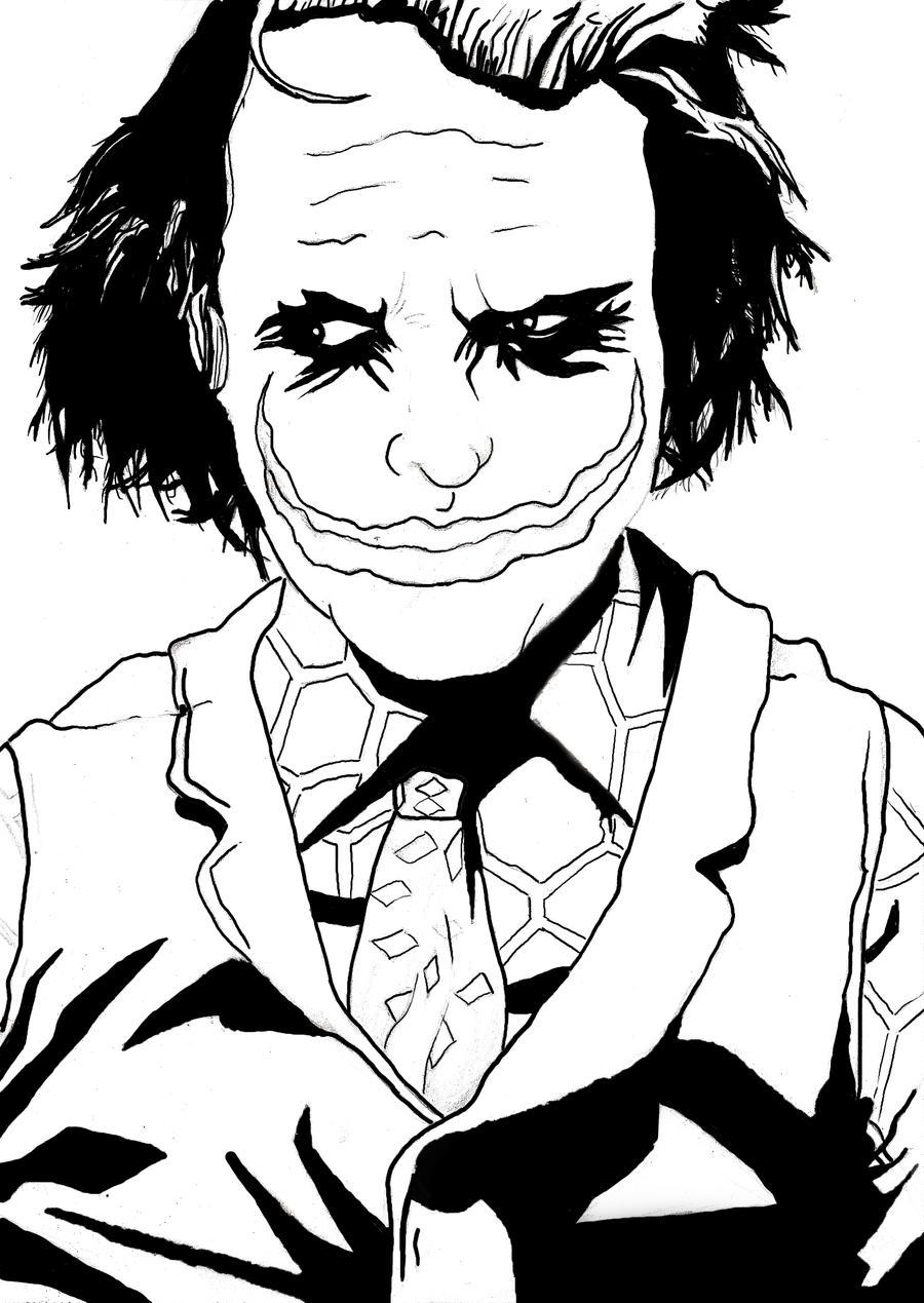 The Joker Line Art : The joker line art by generic artsist on deviantart