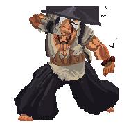 Gouken Pixel Art Alt costume 2 SSFIV