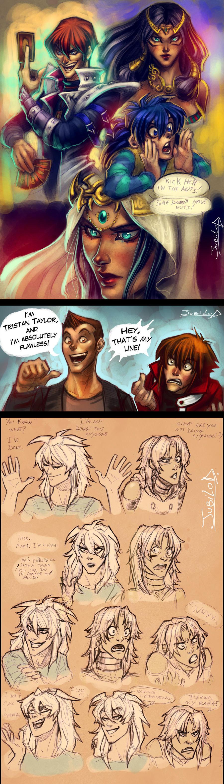 Ishizu Explains It All and Marik evil council 5 by Rivan145th