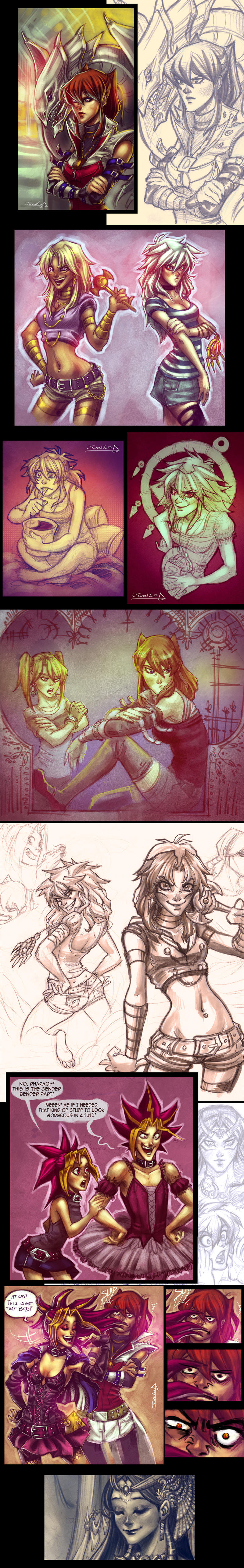 Yu gi oh - Gender Bender by Rivan145th