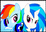Stamp vynil and rainbow by Yuix300xd