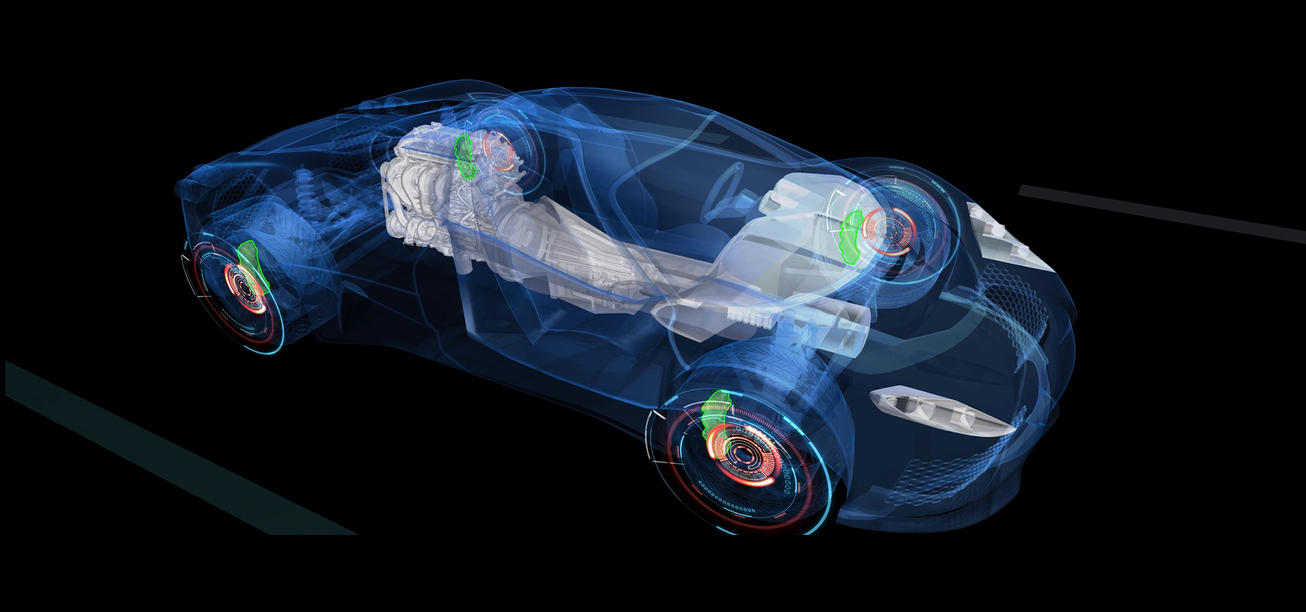 3d car Model xray with special effects animation by seemana