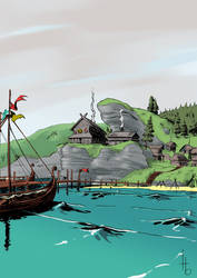 Viking village by Horlod