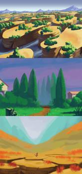 Doodle paysages