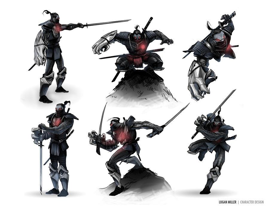 Logan Miller - Samurai Poses by TheLoganMiller