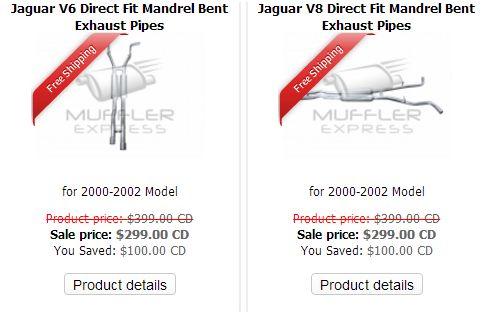 Jaguar Exhaust Pipes Wholesalers by mufflerexpress