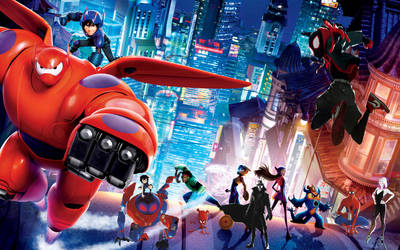 Big Hero 6 Into The Spiderverse!