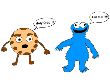 Chips Ahoy Mascot meets Cookie Monster!