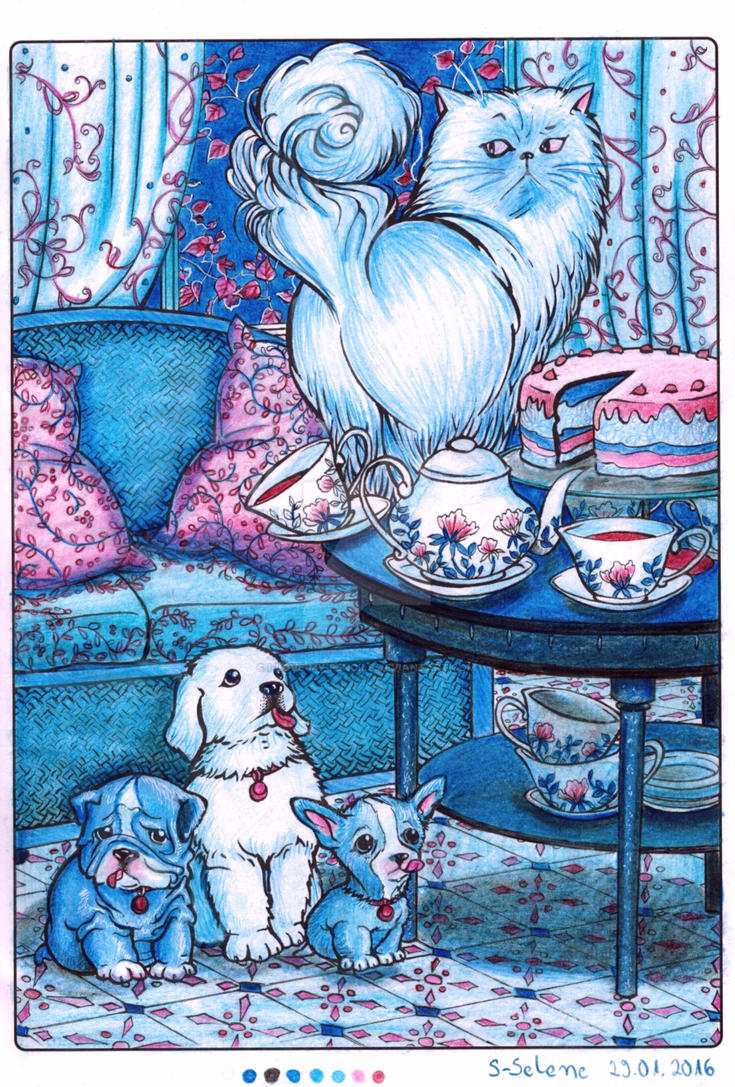 Puppies 2 - Blue by I-Love-My-Pencils