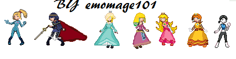 Super Smash bros Female sprites by emomage101