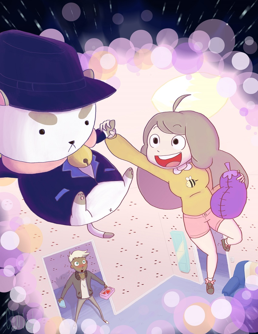 Bee and Puppycat fan art by CWiet