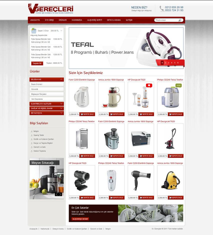Ev Gerecleri E-Ticaret Sitesi by alisarica