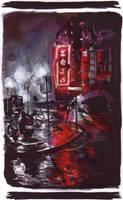 Rainin' Cityscape by akasunanosasoriXD