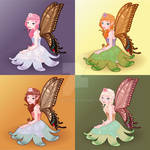 Young fairies. Vector illustration