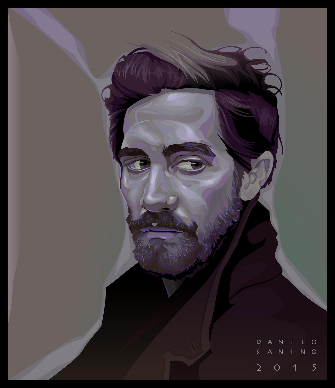 - Jake Gyllenhaal - Digital vector portrait by neptune82
