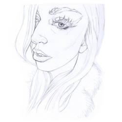 - Gaga - Preparatory sketch.