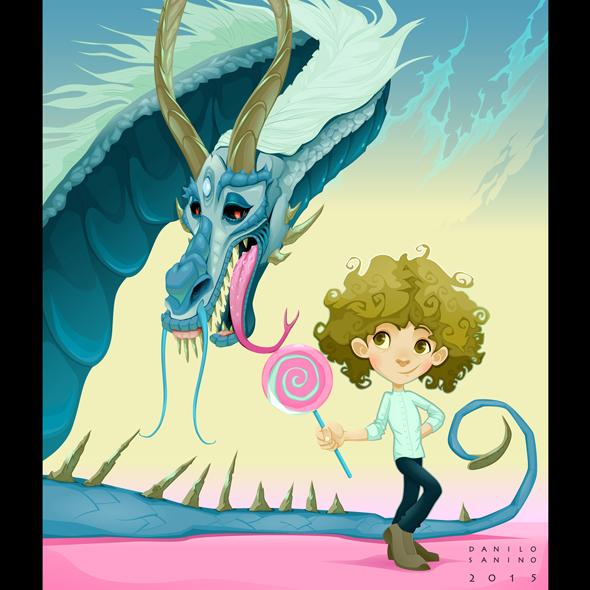 - Friendship between boy and dragon -